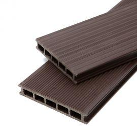 Lame de terrasse en bois composite brun 0.42 m²