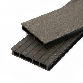 Lame de terrasse en bois composite noire 0.42 m²
