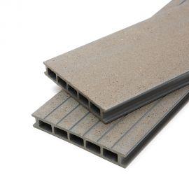 lame de terrasse en bois composite gris claire 0.42 m²